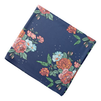 flowers and butterflies bandana