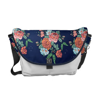 flowers and butterflies courier bags