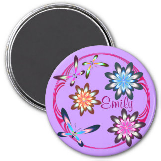 Flowers and butterflies magnet