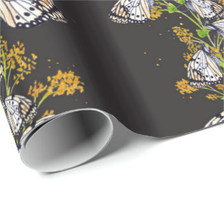 Flowers And Butterflies Wrapping Paper