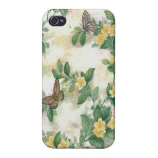 Flowers And Butterfly iPhone 4 Case