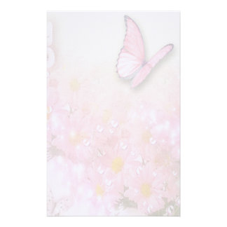 Flowers and Butterfly Stationery