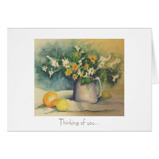 Flowers and Citrus Greeting Card
