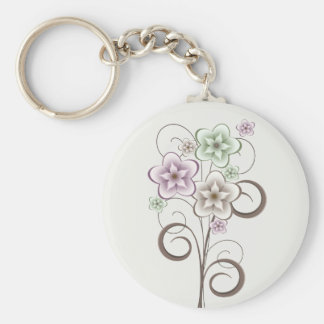 Flowers and Curls Keychain