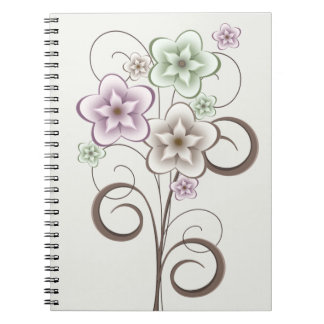 Flowers and Curls Notebook