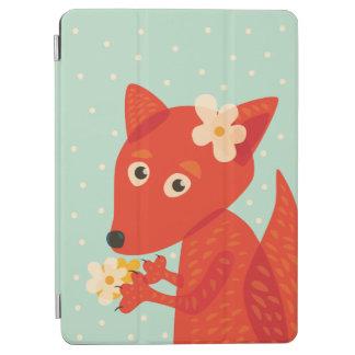 Flowers And Cute Fox iPad Air Cover