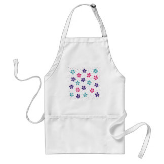Flowers and Dots Pattern Standard Apron