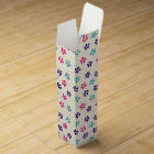 Flowers and Dots Pattern Wine Gift Box