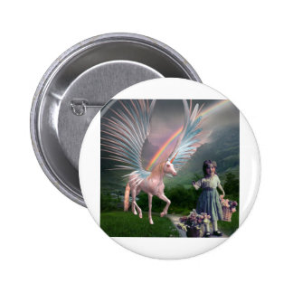 FLOWERS AND FANTASIES 2 INCH ROUND BUTTON