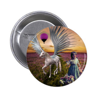 FLOWERS AND FANTASIES 3 2 INCH ROUND BUTTON