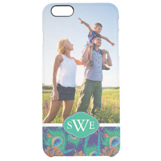 Flowers And Feathers | Add Your Photo & Monogram Clear iPhone 6 Plus Case