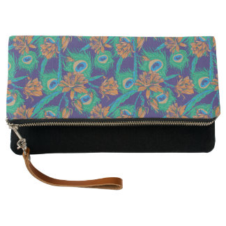 Flowers And Feathers | Monogram Clutch