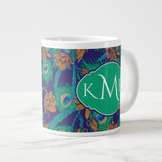 Flowers And Feathers | Monogram Giant Coffee Mug