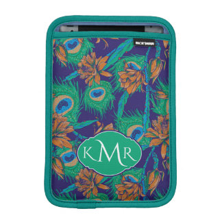 Flowers And Feathers | Monogram Sleeve For iPad Mini