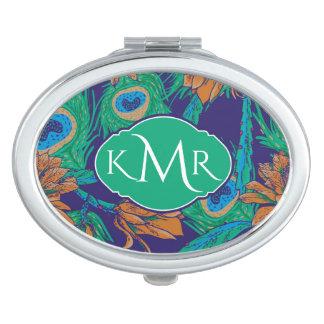 Flowers And Feathers | Monogram Travel Mirror