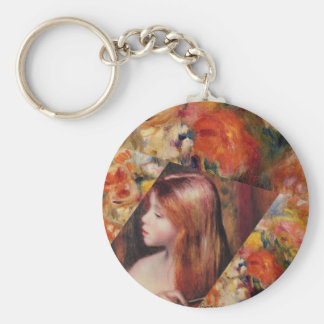 Flowers and female beauty blend just right keychain