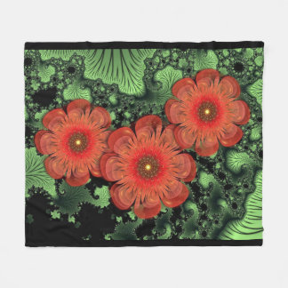Flowers And Ferns Fleece Blanket
