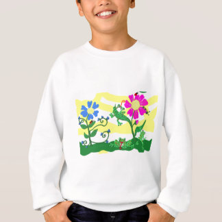 Flowers and frogs sweatshirt