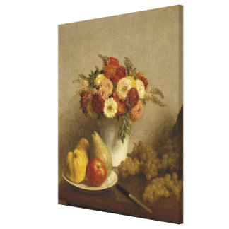 Flowers and Fruit, 1865 Gallery Wrapped Canvas