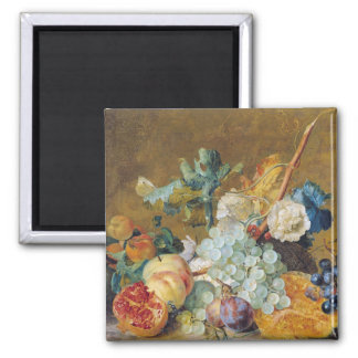 Flowers and Fruit Square Magnet