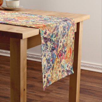 flowers and fruits short table runner