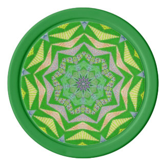 Flowers and Greenery Fractal Poker Chips