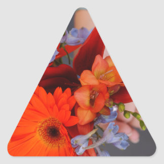 Flowers and hans triangle sticker