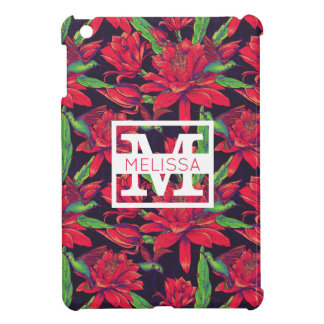 Flowers And Hummingbirds | Add Your Name iPad Mini Cover