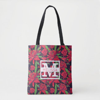 Flowers And Hummingbirds | Add Your Name Tote Bag