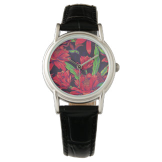 Flowers And Hummingbirds Watches
