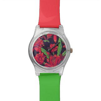 Flowers And Hummingbirds Wristwatch