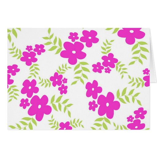 Flowers and leaves - Card