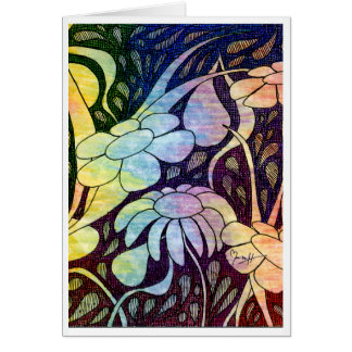 Flowers and Leaves - Light and Dark Card