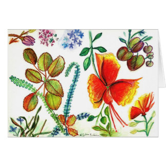 Flowers and Leaves of Florida Card
