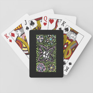 flowers and love playing cards