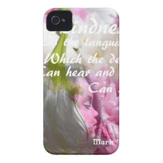 Flowers and message about kindness. iPhone 4 Case-Mate cases