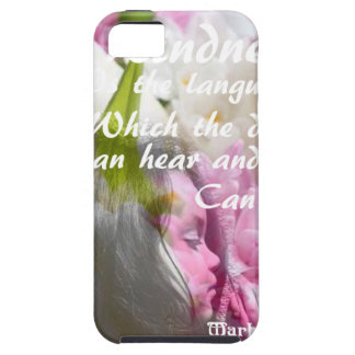 Flowers and message about kindness. iPhone 5 case