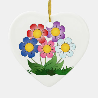 flowers and painting ceramic ornament