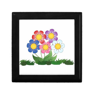flowers and painting gift box