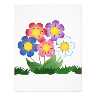 flowers and painting letterhead