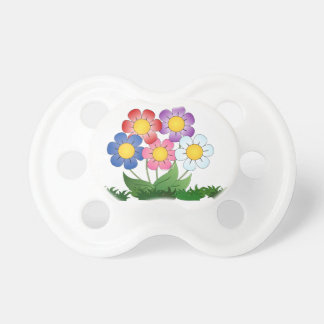 flowers and painting pacifier