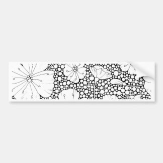 Flowers and Pebbles Bumper Sticker