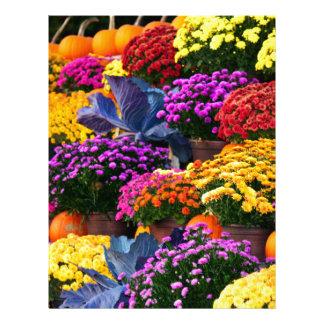 Flowers and pumpkins letterhead