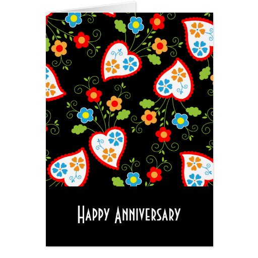 Flowers and red Portuguese Hearts Greeting Cards