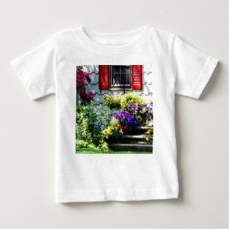 Flowers and Red Shutters Baby T-Shirt