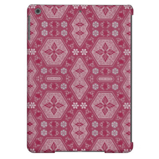 Flowers and Shapes in Raspberry Red iPad Air Cases