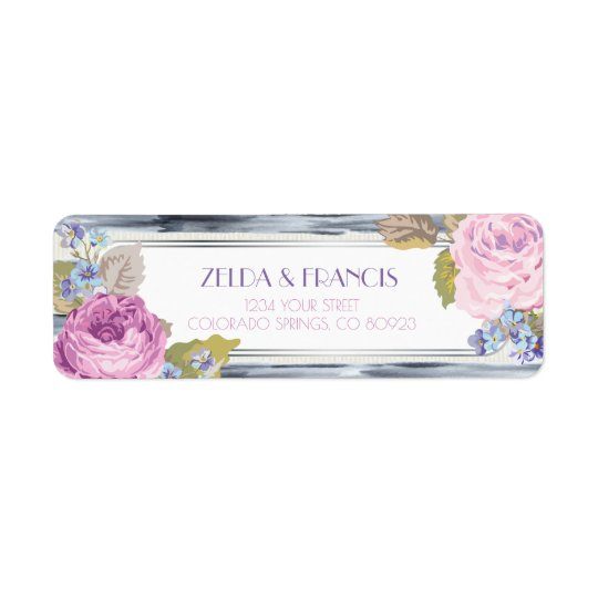 Flowers and Stripes Address Labels