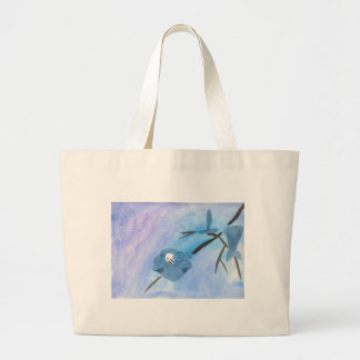 Flowers And Tiny Skull Large Tote Bag
