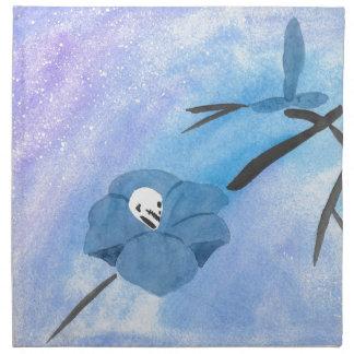 Flowers And Tiny Skull Napkin