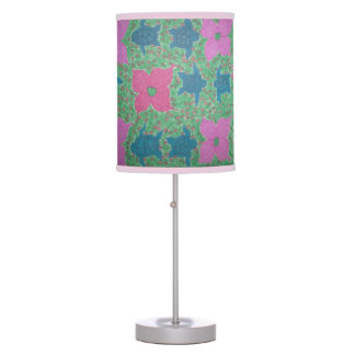 Flowers and Turtles Tropical Lamp